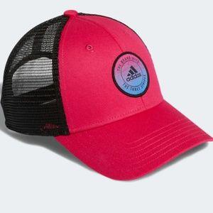 Adidas Women's Notion Trucker Hat Black 3 Stripes